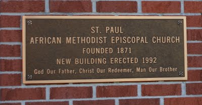 St Paul AME Church plaque